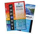 A6 Giant Number Magnetic Temperature Gauge Cards  by Gopromotional - we get your brand noticed!