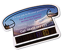 Small Telephone Shaped Temperature Gauge Cards  by Gopromotional - we get your brand noticed!