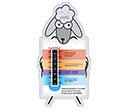 Custom Shaped Temperature Gauge Cards  by Gopromotional - we get your brand noticed!
