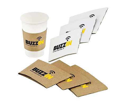 Solid Paper Cup Sleeves - 240-300ml