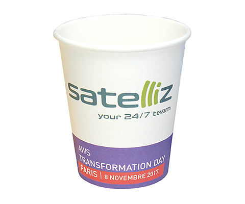 Enviro Recyclable Single Walled Paper Cup - Full Colour - 230ml