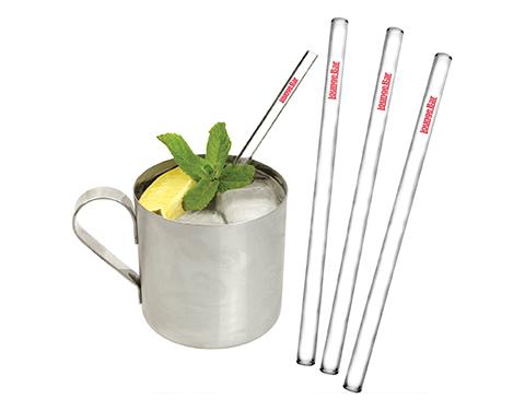 Arctic Glass Drinking Straws