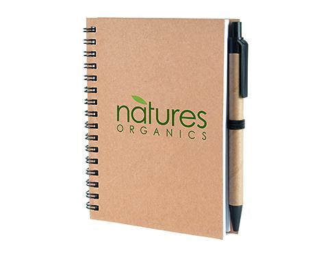 A6 Boston Natural Pocket Notebook & Pen