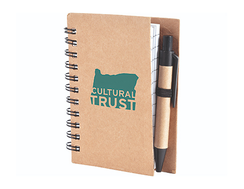 A7 Boston Natural Pocket Notebook & Pen
