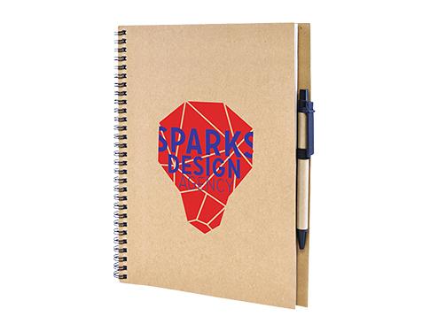 A4 Windsor Natural Spiral Bound Notebook & Pen
