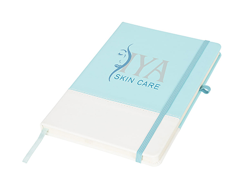 A5 Two Tone Soft Feel Colours Notebook