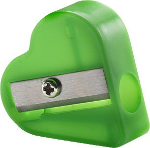 Promotional Heart Shaped Pencil Sharpeners Printed With