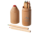 Milan 12 Piece Coloured Pencil Sets  by Gopromotional - we get your brand noticed!