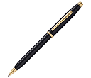 Cross Century II Black Lacquered 23ct Gold Plated Pens  by Gopromotional - we get your brand noticed!