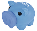 Percy Soft Feel Piggy Banks  by Gopromotional - we get your brand noticed!