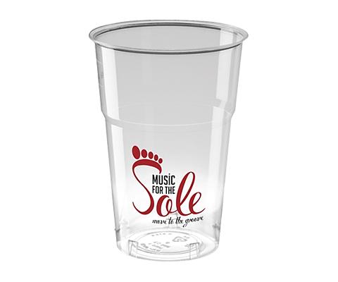 Edinburgh Disposable Plastic Pint Glass - 575ml