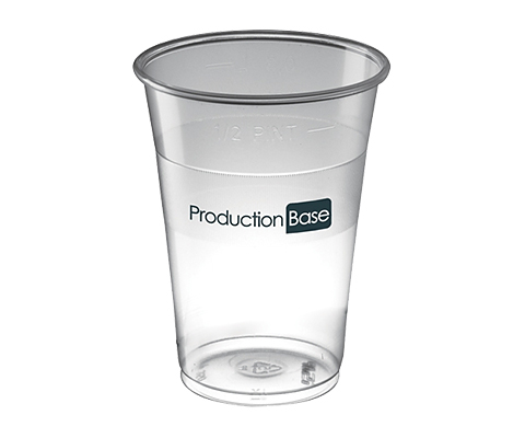 Glastonbury Disposable Plastic Beer Glass - 630ml