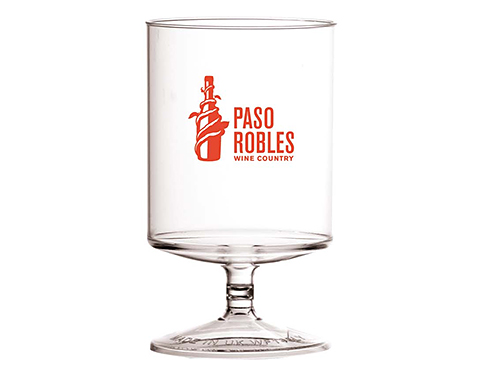 Reusable Plastic Stacking Wine Glass - 312ml