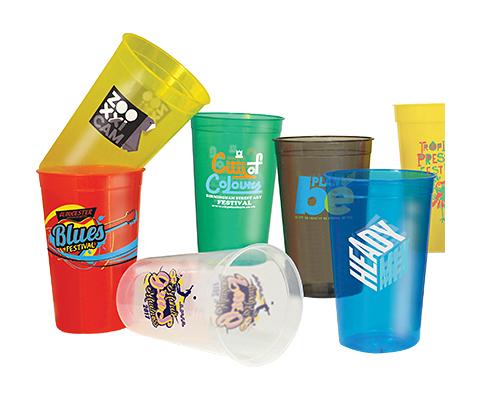 Wembley Plastic Translucent Stadium Cup - Half Pint - 340ml
