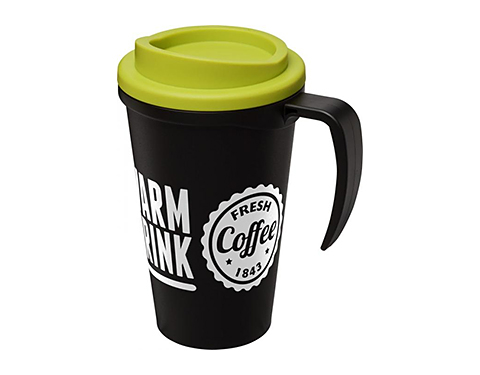 Americano Grande 350ml Travel Mugs - Black Handle