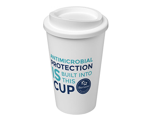 Americano 350ml Antimicrobial Take Away Mugs - White