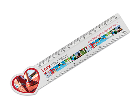 15cm Heart Shaped Ruler