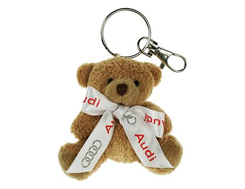 Tubby Bear Keyring With Bow