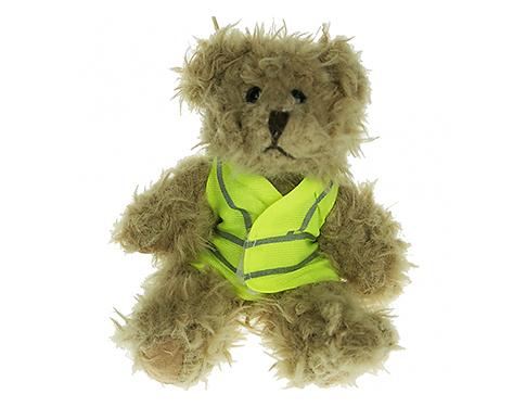 15cm Windsor Scruffy Bear With Hi Vis Jacket