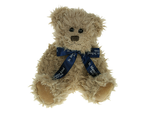 20cm Windsor Scruffy Bear With Bow