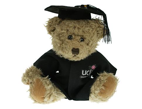 25cm Windsor Scruffy Bear With Graduation Cap & Gown
