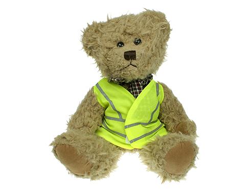25cm Windsor Scruffy Bear With Hi Vis Jacket