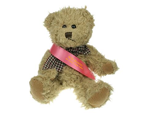 25cm Windsor Scruffy Bear With Sash