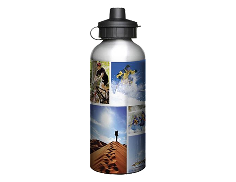 Super 600ml Aluminium Photo Sports Bottle