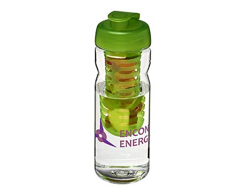 H20 Tritan Impact 650ml Flip Top Fruit Infuser Water Bottle