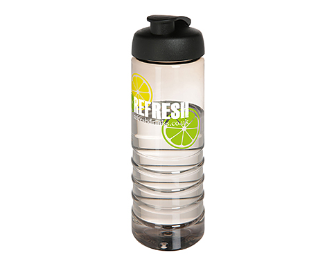 H20 Waterfall 750ml Flip Top Sports Bottle