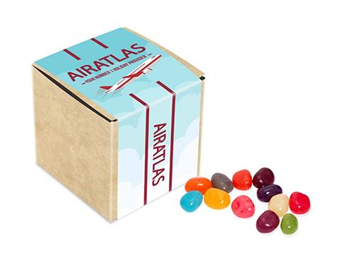 Eco Kraft Cube - Gourmet Jelly Beans