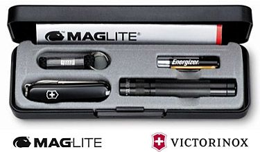 Promotional Maglite Solitaire Amp Victorinox Classic Sd Set