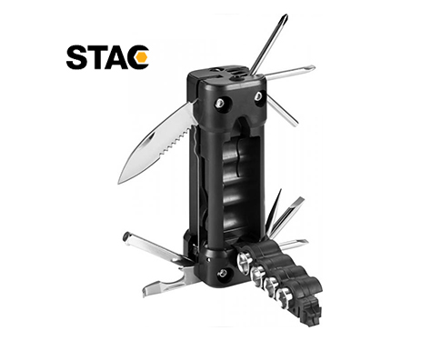 Chicago 16 in 1 LED Flashlight Laser Multi Tool