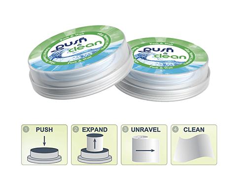 Anti-Bacterial PushClean Wipes