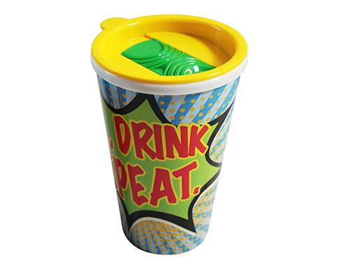 ColourBrite Universal 350ml Take Away Mug - Slip & Slide Lid