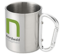 Carabiner Stainless Steel Travel Mugs  by Gopromotional - we get your brand noticed!