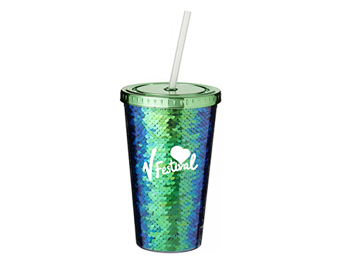 Festival Sequin Insulated 470ml Tumbler