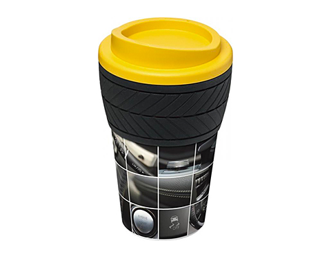 ColourBrite 350ml Americano Tyre Grip Take Away Mug