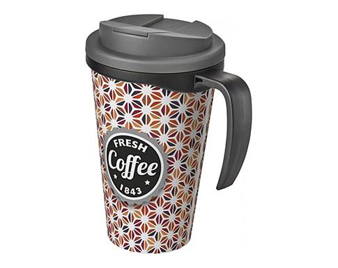 Americano ColourBrite 350ml Grande Travel Mug - Black Handle - Spill Proof Lid
