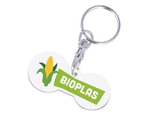 Multi Euro Bio Trolley Stick Keyring