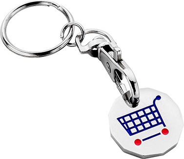 New Pound Trolley Coin Keyrings