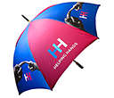 Eclipse Black Golf Umbrellas  by Gopromotional - we get your brand noticed!