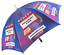 Eclipse Silver Golf Umbrellas  by Gopromotional - we get your brand noticed!