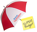 Birkdale Budget Golf Umbrellas  by Gopromotional - we get your brand noticed!
