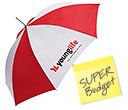 Super Budget Automatic Walking Umbrellas  by Gopromotional - we get your brand noticed!