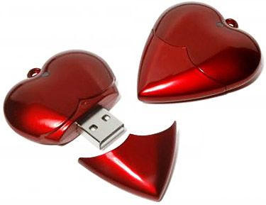 Promotional Heart Shaped Flashdrives Printed With Your