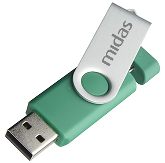 1gb On The Go Twister Micro USB FlashDrive - Engraved