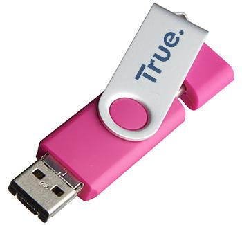 1gb On The Go Twister Micro USB FlashDrive