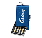 2gb Mini Aluminium Twister USB FlashDrive - Engraved