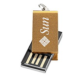 8gb Mini Aluminium Twister USB FlashDrive - Engraved